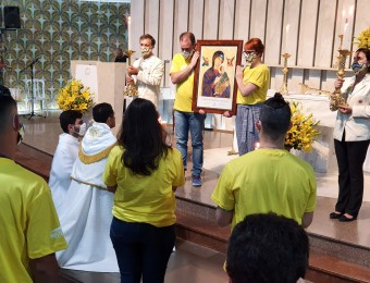 Integrantes do SAV participam de missa de envio